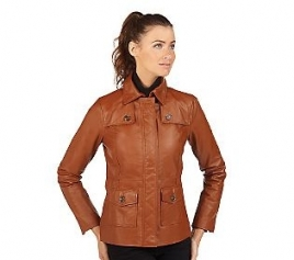 Isaac Mizrahi Ladies Leather Jacket