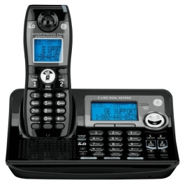 GE 28165FE1 DECT6.0 2-Line Cordless Single Handset Phone