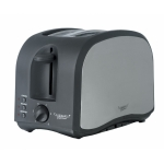 Continental Platinum 2 Slice Stainless Black Toaster