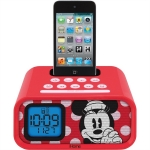Walt Disney Minnie Mouse Dual Alarm Clock and 30-Pin iPod Speaker Dock