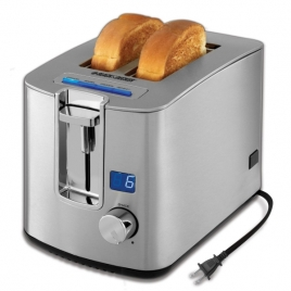 Black & Decker 2-Slice Retractable Cord LED Display Toaster (Stainless)