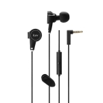 iLuv ReF™ High Fidelity In-Ear Stereo Earphones with Canvas Exterior, Mic & Remote