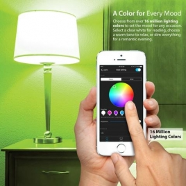iLuv Rainbow7 Bluetooth Multicolour Dimmable Smart LED Light Bulb